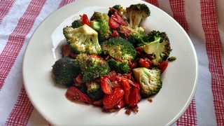 Sautéed Tomatoes & Broccoli with Bacon